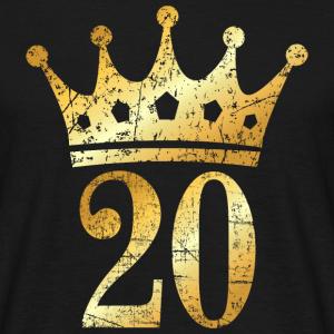 20. Geburtstag Krone (Vintage Gold)