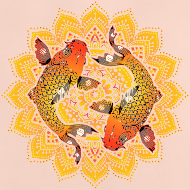 Asian Pond Carp - Koi Fish Mandala 2