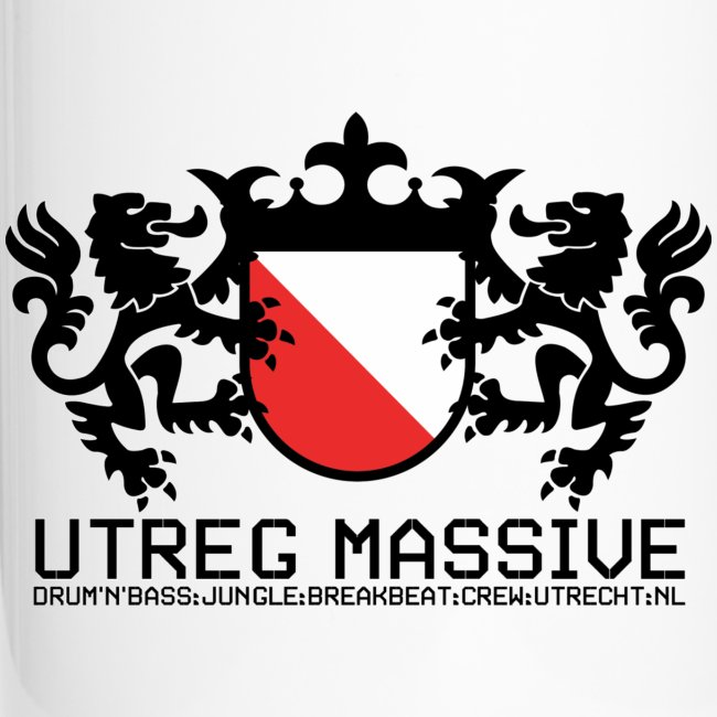 Utreg Massive Coffee Mug (Black/White)