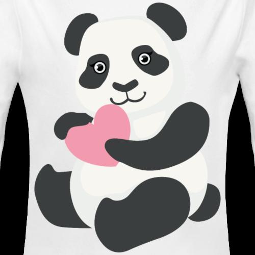 Cute Panda heart love