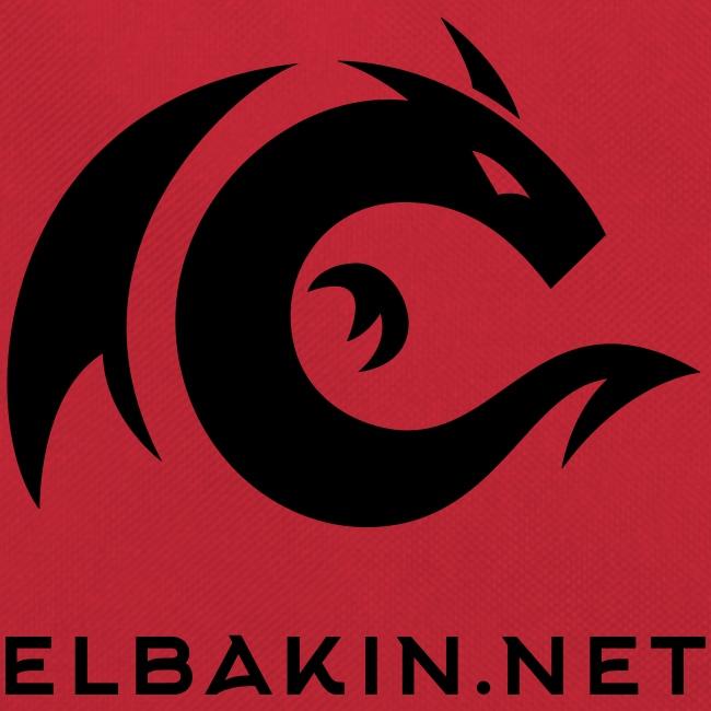 Sac bandoulière logo noir