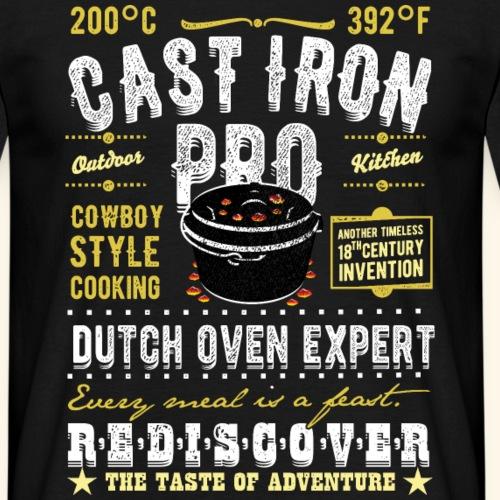 "Lustiges Grill T Shirt ""Cast Iron Pro"""