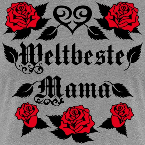 34 Weltbeste Mama Tattoo Herz rote Rosen Liebe