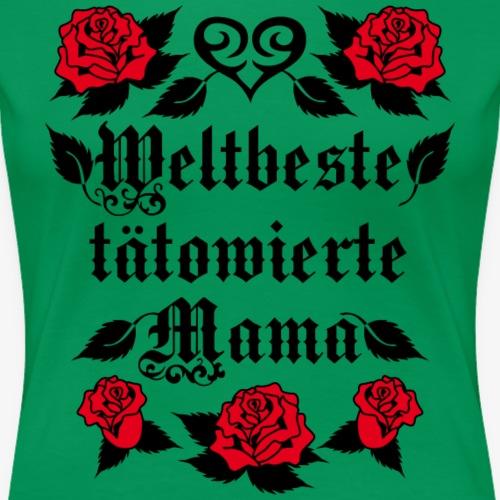 33 Weltbeste tätowierte Mama Herz rote Rosen