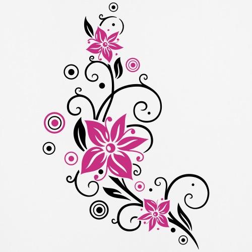 Blumenranke mit großen Blüten, flowers