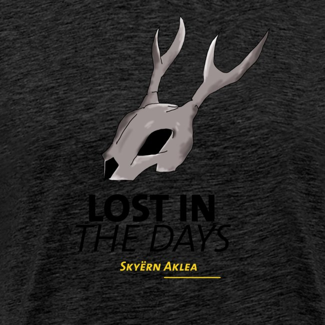 T-SHIRT SKULL MAN LOST IN THE DAYS