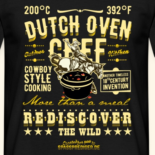 Grill T Shirt Design Dutch Oven Chef