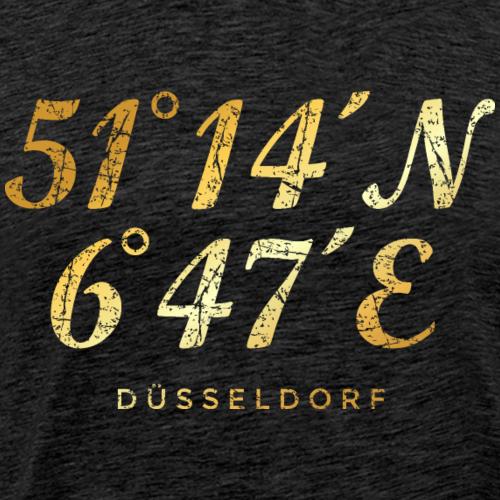 Düsseldorf Koordinaten (Vintage Gold)
