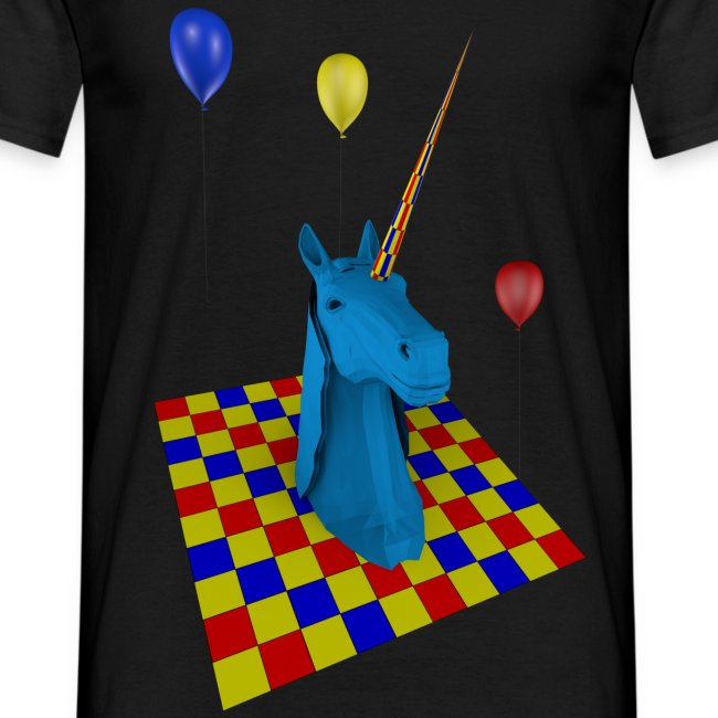 camiseta clasica hombre unicornio party