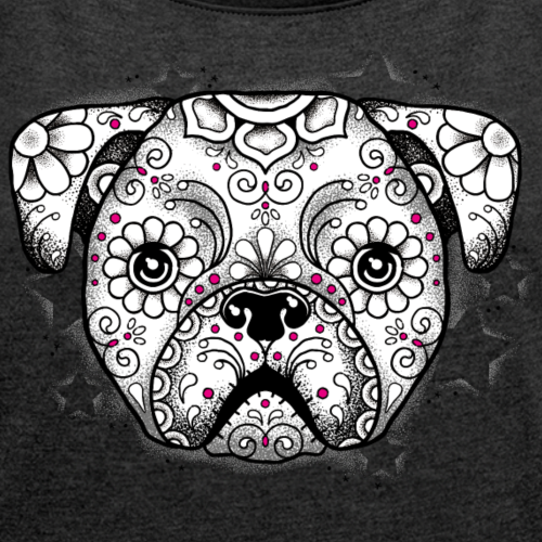 Puppy Sugar Skull BW