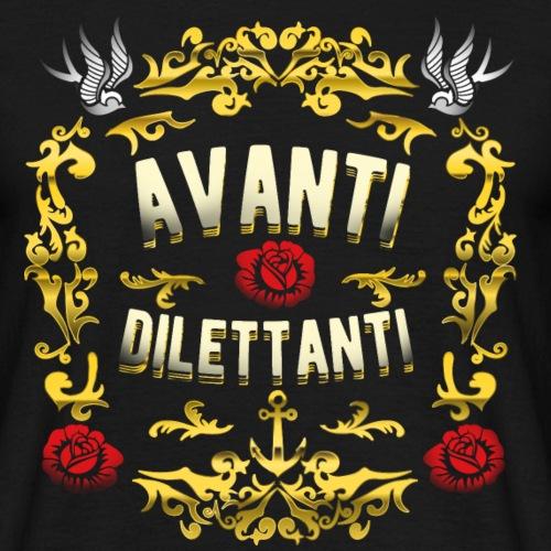 lustiges T-Shirt-Design Avanti, dilettanti