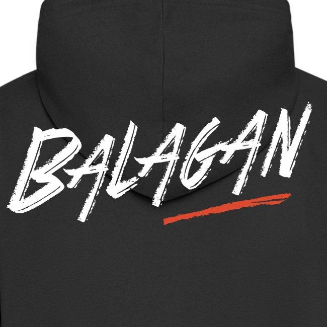 Balagan, Black Hoodie zip, logo back, Guyz