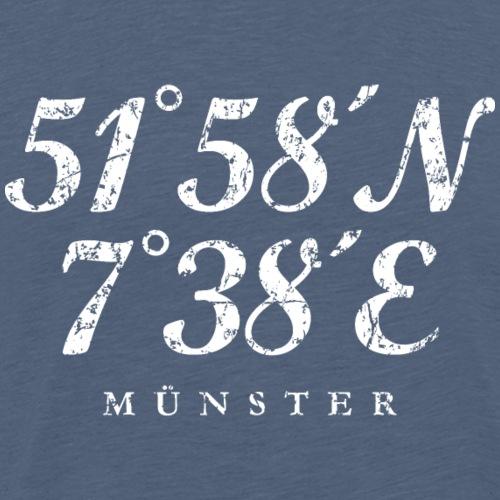 Münster Koordinaten (Vintage Weiß)