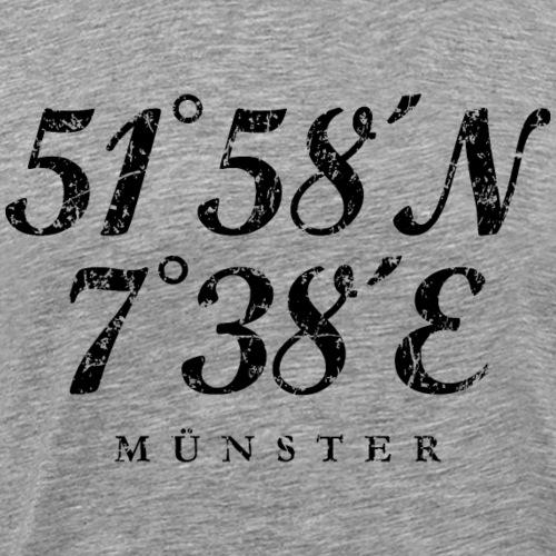 Münster Koordinaten (Vintage Schwarz)