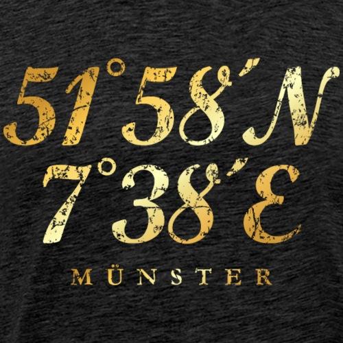 Münster Koordinaten (Vintage Gold)