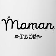 Mug Maman 2018 blanc par Tshirt Family