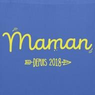 Tote Bag Maman 2018 bleu pâle par Tshirt Family