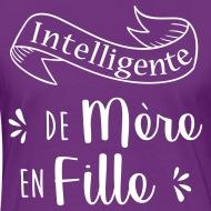 Tee shirt Intelligente de mère en fille violet/blanc par Tshirt Family