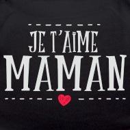 Nounours Maman je taime noir par Tshirt Family