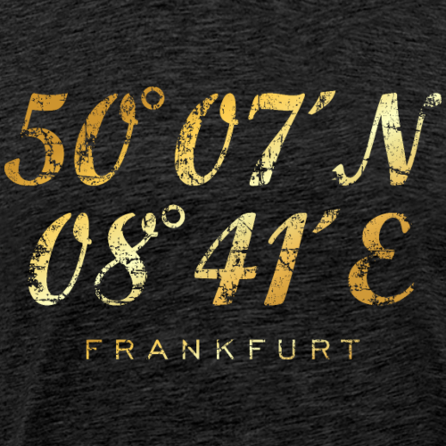 Frankfurt Koordinaten (Vintage Gold)