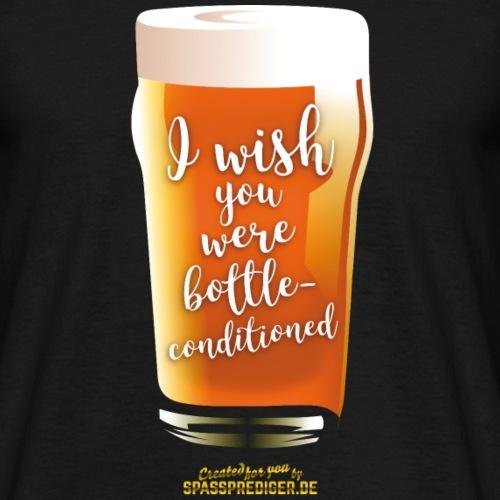 "Craft Beer Shirt Design ""bottle-conditioned"""