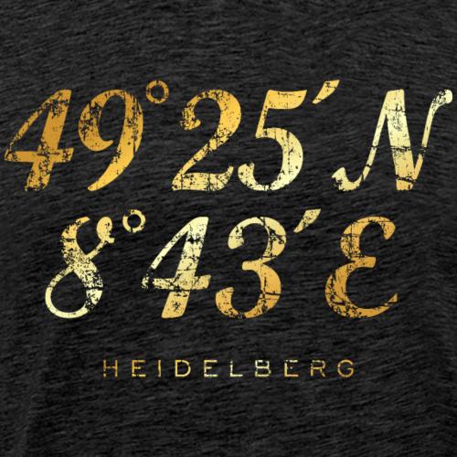 Heidelberg Koordinaten (Vintage Gold)