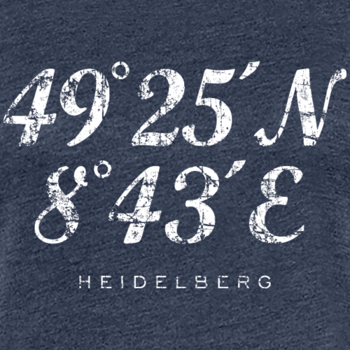 Heidelberg Koordinaten Vintage Weiß