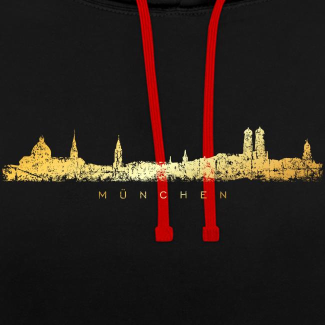 München Skyline Hoodie (Vintage Gold)