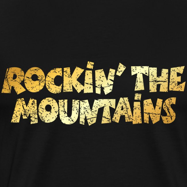 Rockin' the Mountains T-Shirt (Vintage Gold)