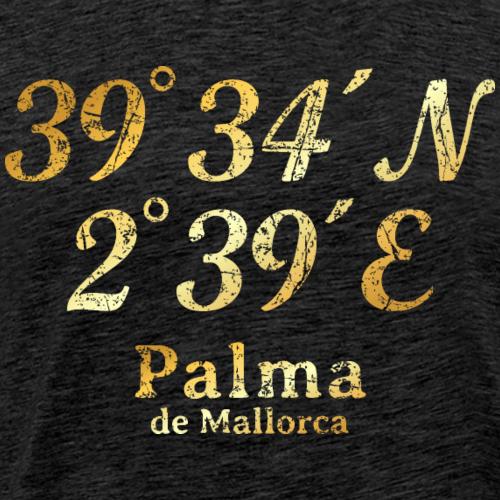 Palma de Mallorca Koordinaten (Vintage Gold)