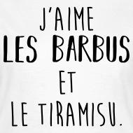 Tee shirt J'aime les barbus et le tiramisu blanc par Tshirt Family