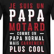 T-shirt Papas motards plus cool noir par Tshirt Family