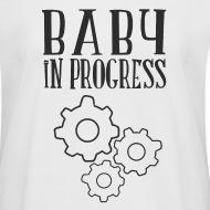 T-shirt oversize Femme babay in progress blanc par Tshirt Family