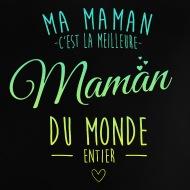 Tee shirt Meilleur maman du monde entier noir par Tshirt Family