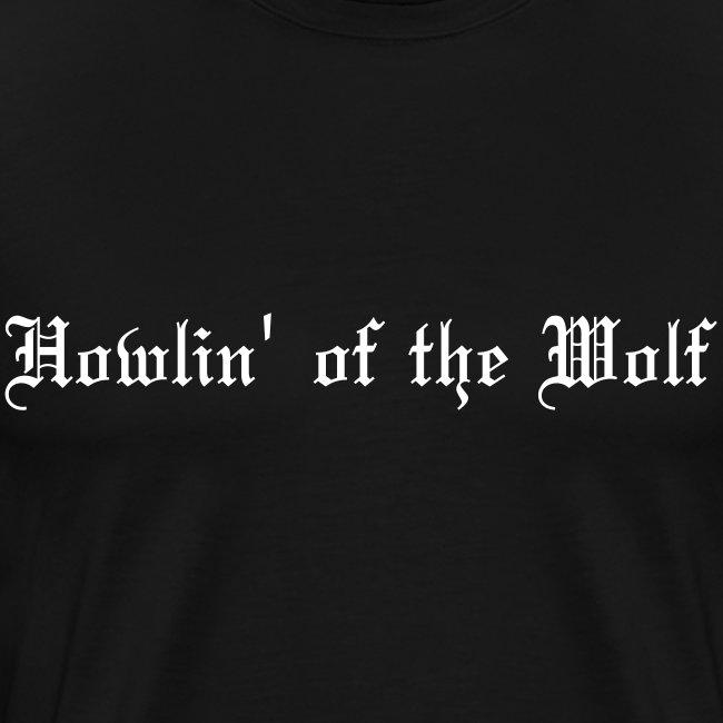 wolf black male t-shirt