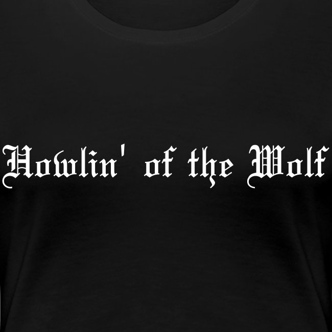 wolf white female t-shirt