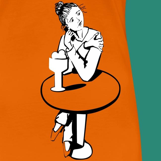 Mädchen am Tisch T-Shirts
