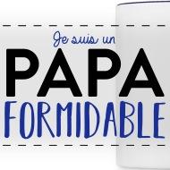 Mug Papa formidable blanc/bleu cobalt par Tshirt Family