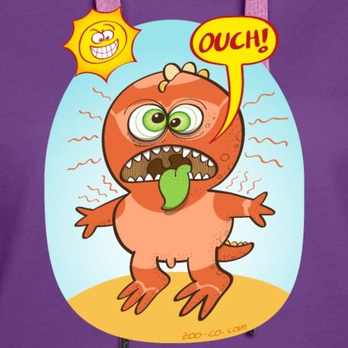 Bad sunburn for a funny dinosaur