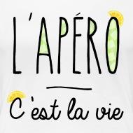 Tee shirt l'Apéro c'est la vie, citron blanc par Tshirt Family