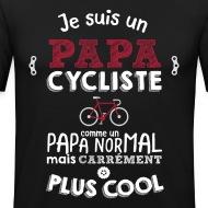T-shirt Je suis un papa cycliste noir par Tshirt Family