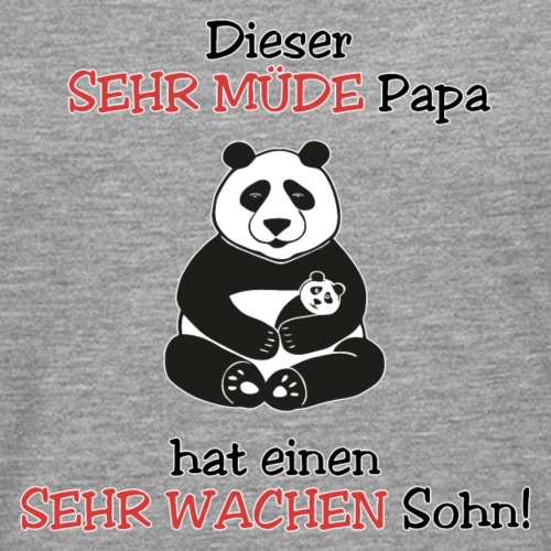 Panda Papa müde Baby Sohn wach