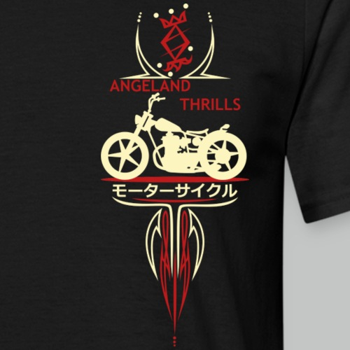 Front Logo Angeland Thrills with Custom Bike Smal