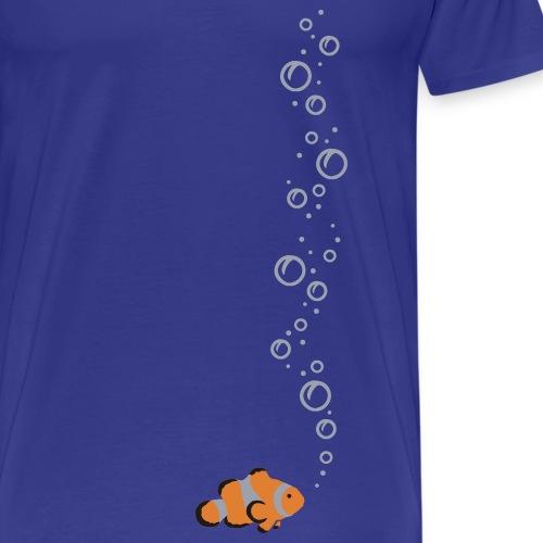 Clownfisch mit Blubbeln