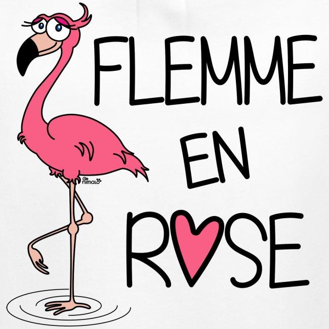 T-shirt Enfant Fille Flamant Rose / Flemme en Rose