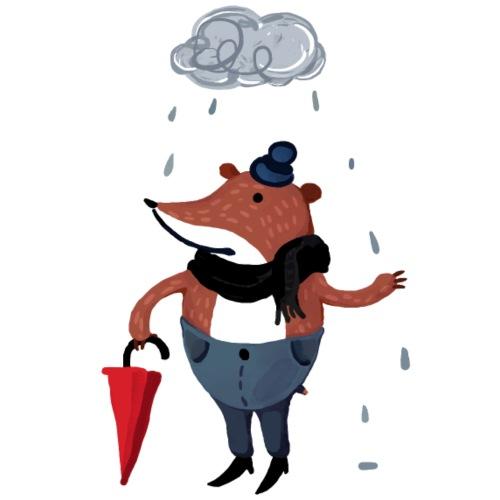Mr Bär im Regen