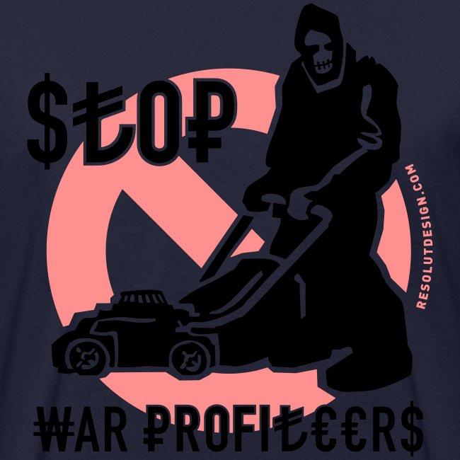 STOP WAR PROFITEERS!  (man)