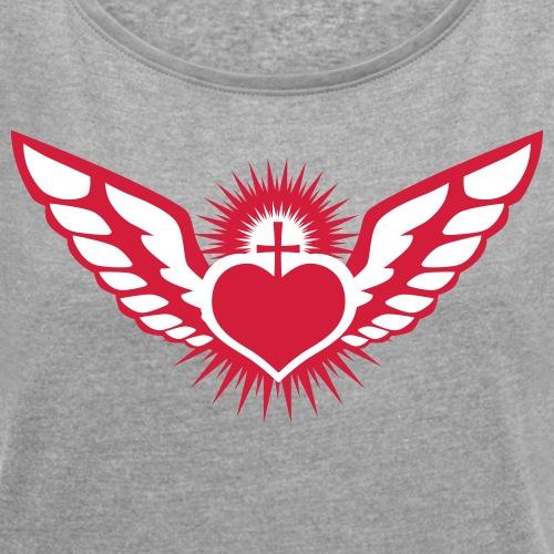 Flying Heart Cross Love Herz fliegt Liebe fly
