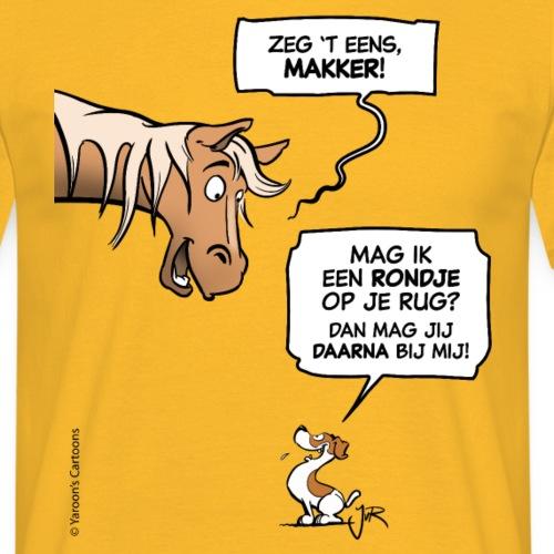 Een stoer voorstel (Jack Russell & paard)