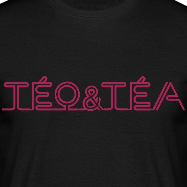 TEO&TEA letter pink shirt black
